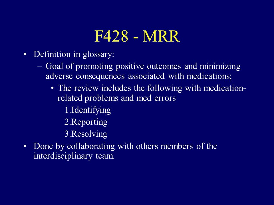 F428 - MRR Definition in glossary: