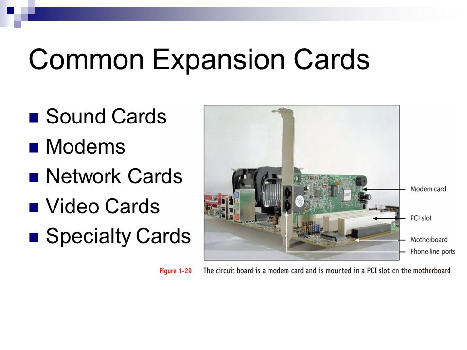 Common Expansion Cards