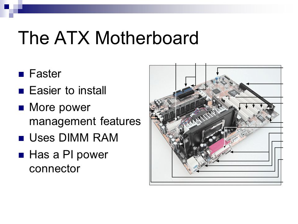 The ATX Motherboard Faster Easier to install