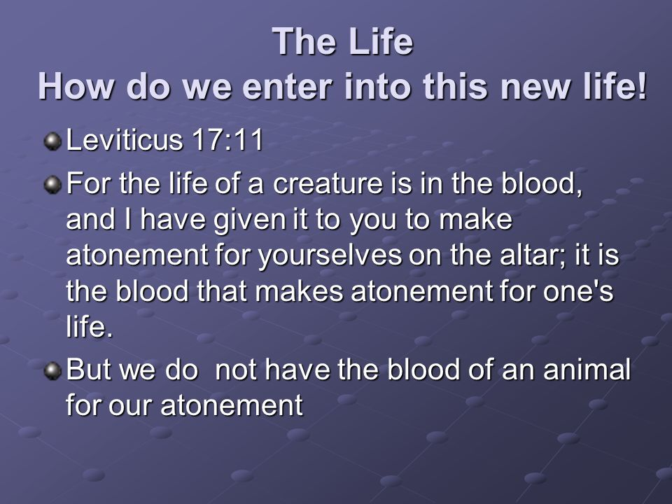 The Life How do we enter into this new life!