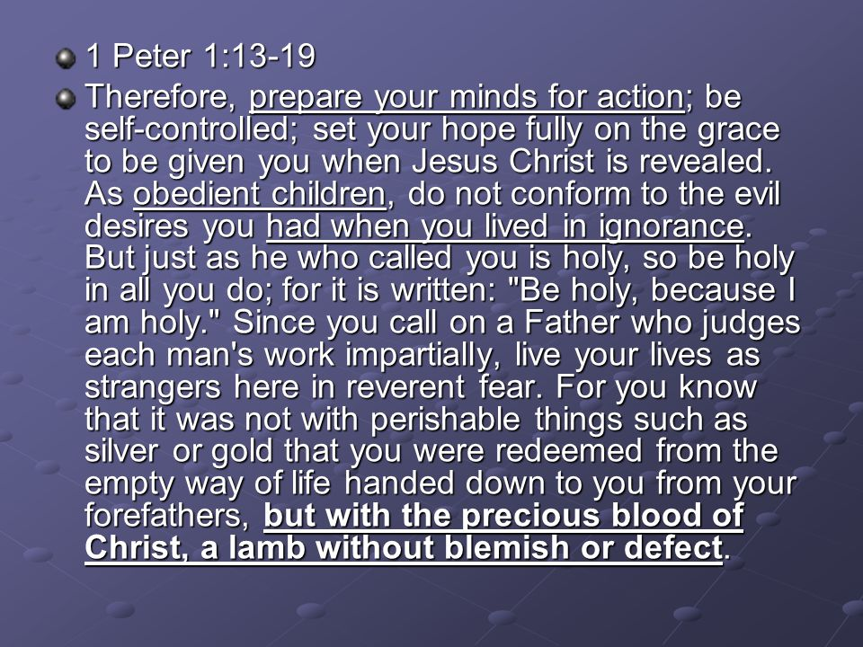 1 Peter 1:13-19