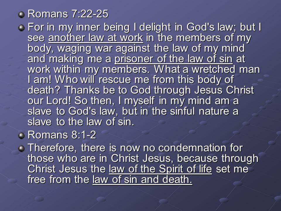 Romans 7:22-25