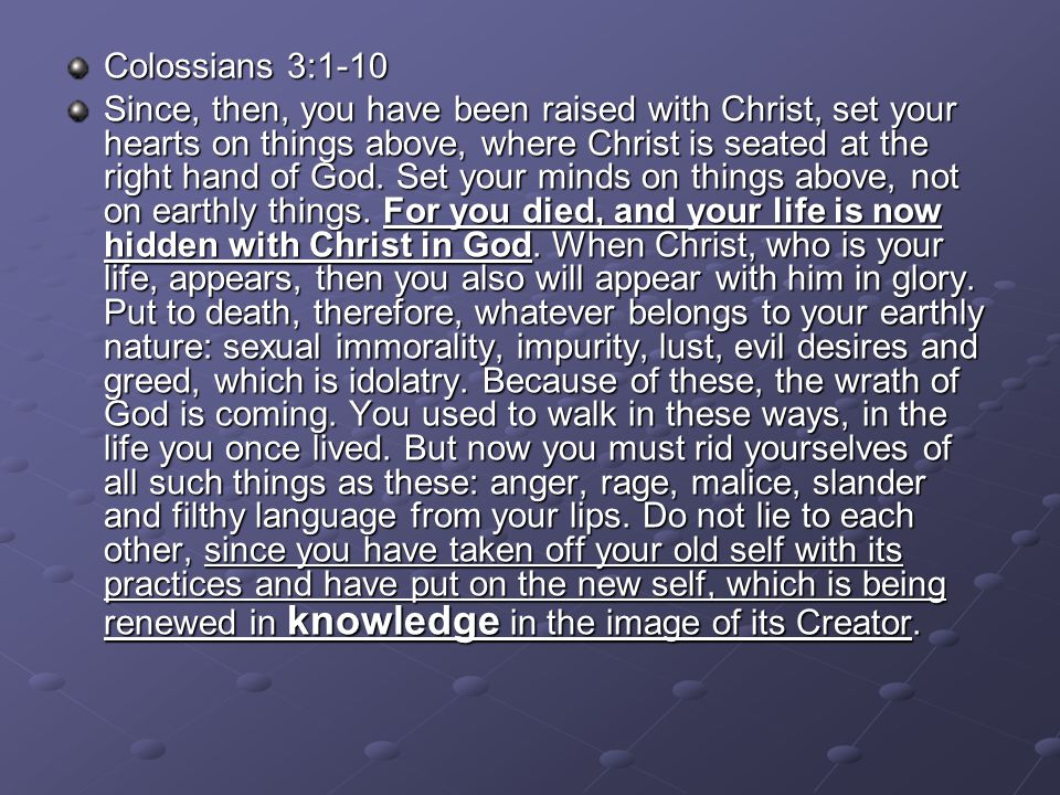 Colossians 3:1-10