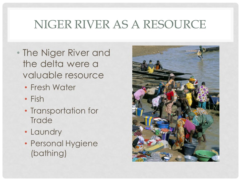 Niger River as a resource