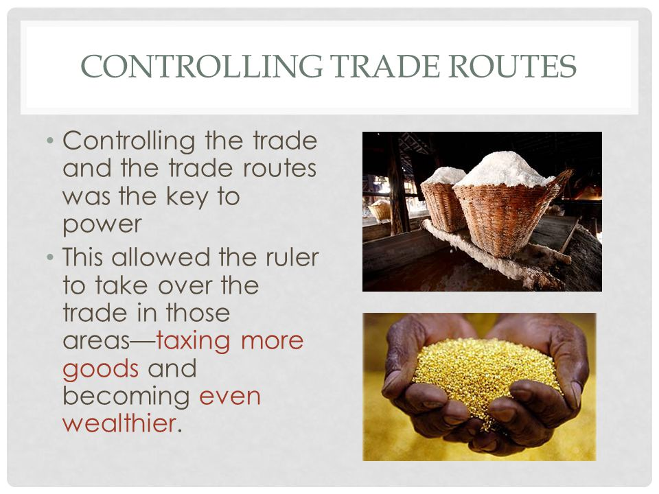 Controlling trade Routes
