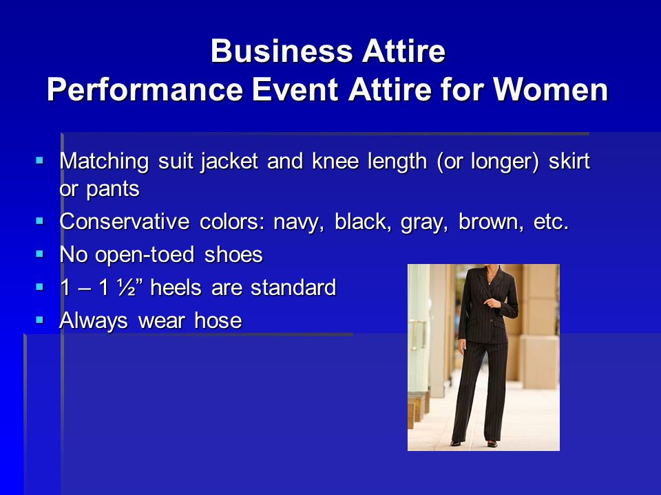 Business Attire Performance Event Attire for Women
