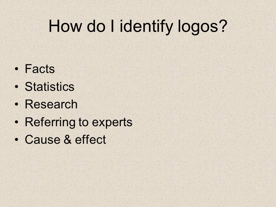 How do I identify logos Facts Statistics Research