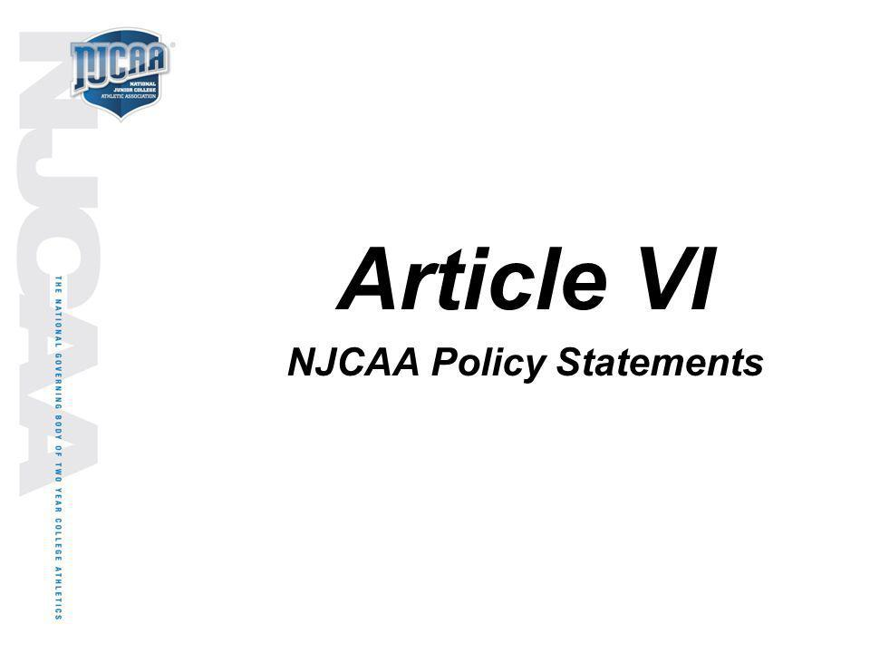 NJCAA Policy Statements