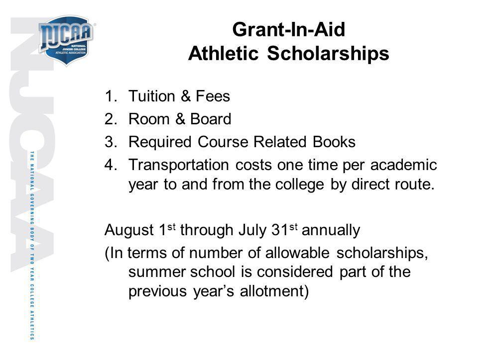 Grant-In-Aid Athletic Scholarships