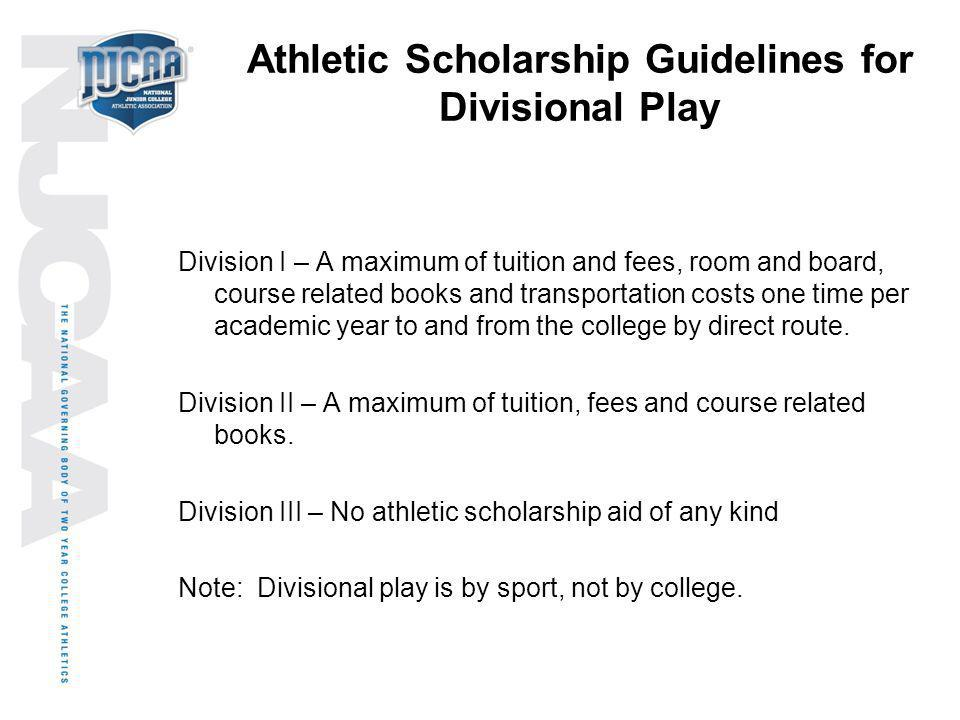 Athletic Scholarship Guidelines for Divisional Play