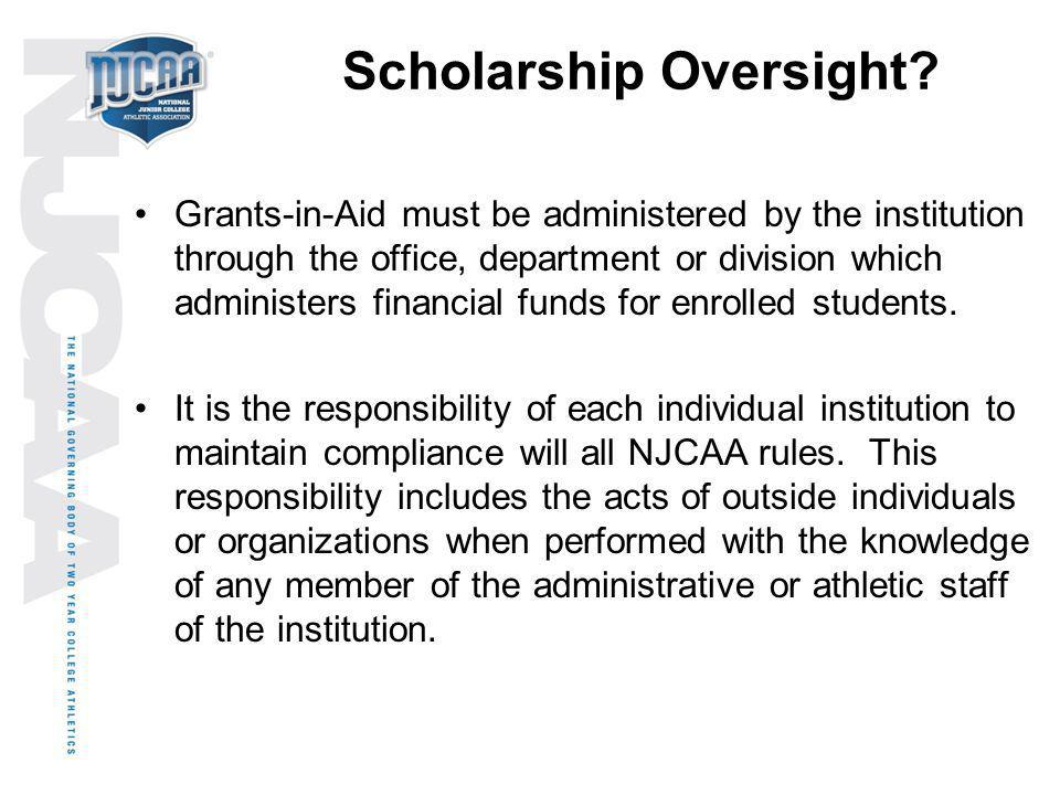 Scholarship Oversight