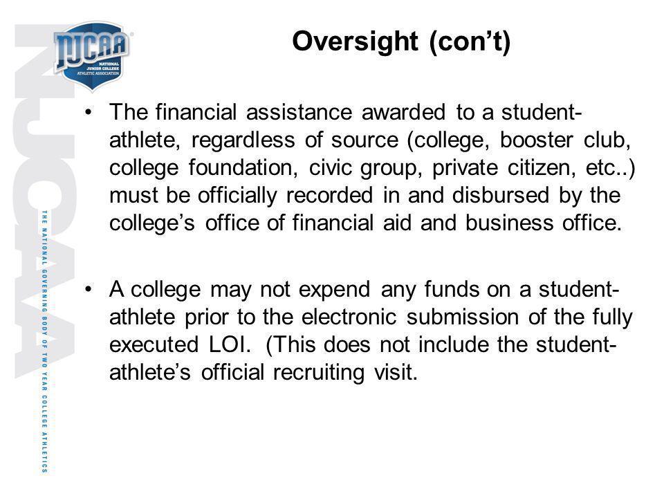 Oversight (con't)