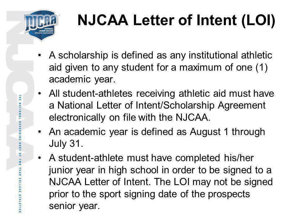 NJCAA Letter of Intent (LOI)