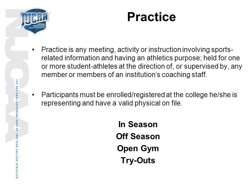 Practice In Season Off Season Open Gym Try-Outs