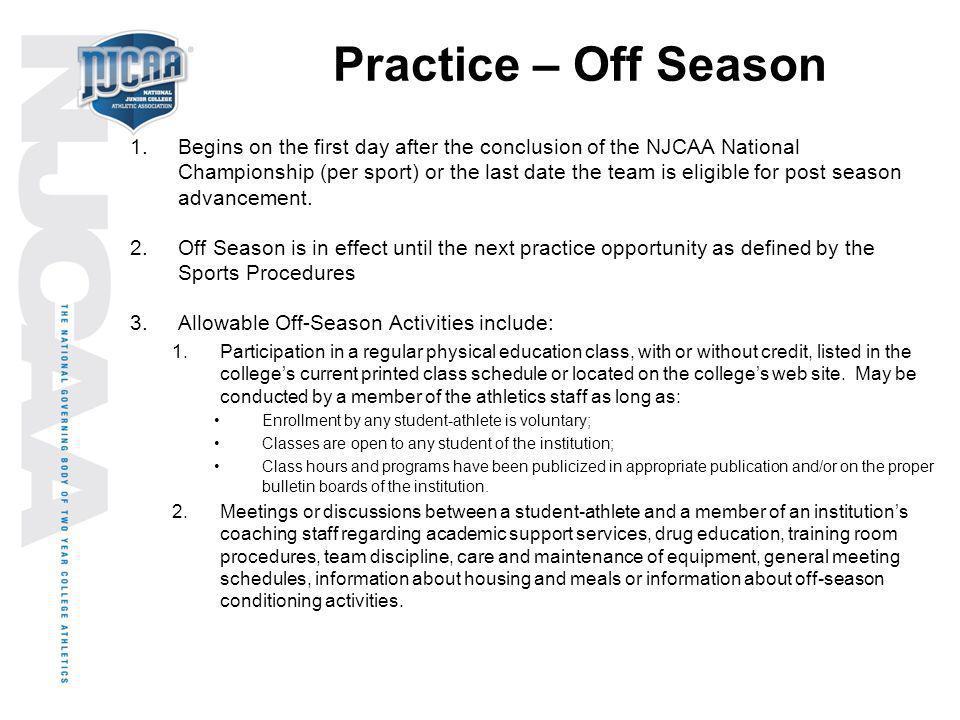 Practice – Off Season