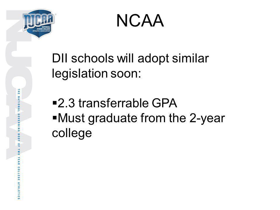 NCAA DII schools will adopt similar legislation soon: