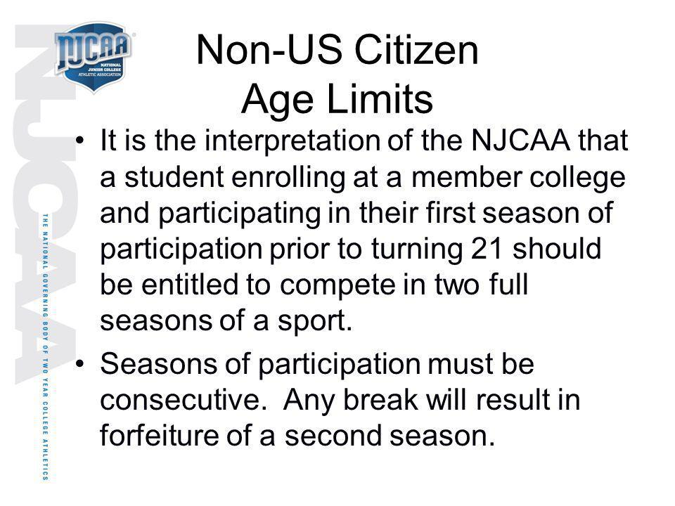 Non-US Citizen Age Limits