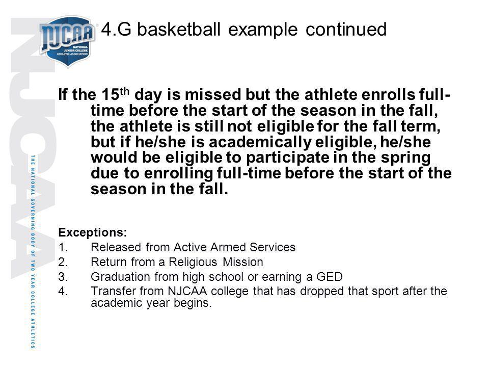 4.G basketball example continued