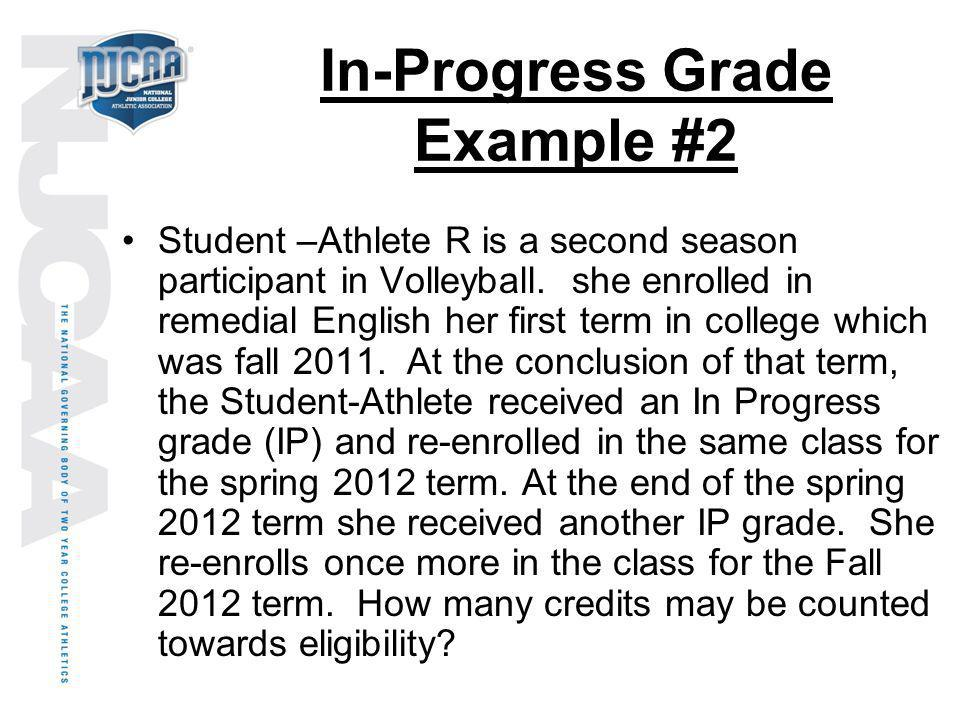 In-Progress Grade Example #2