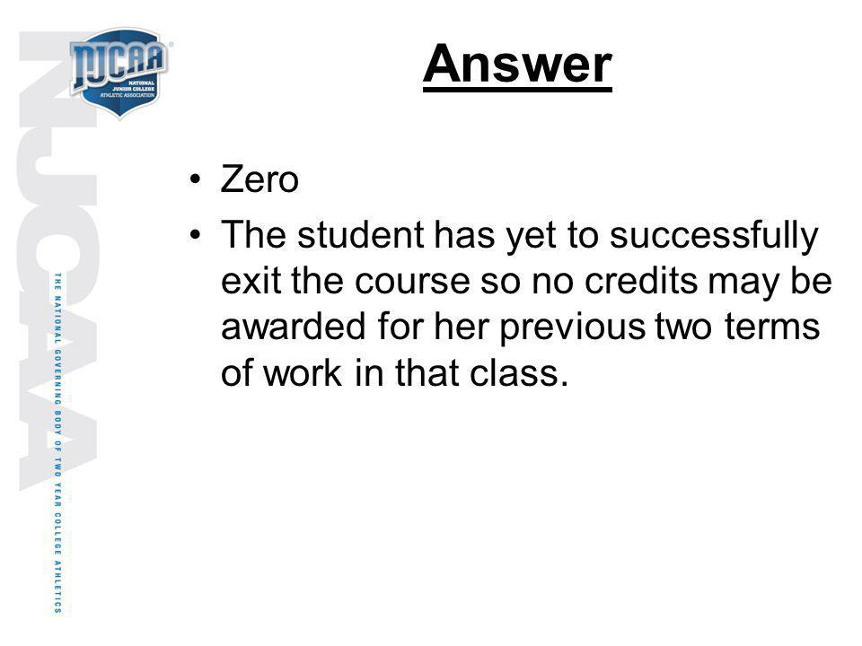 Answer Zero.