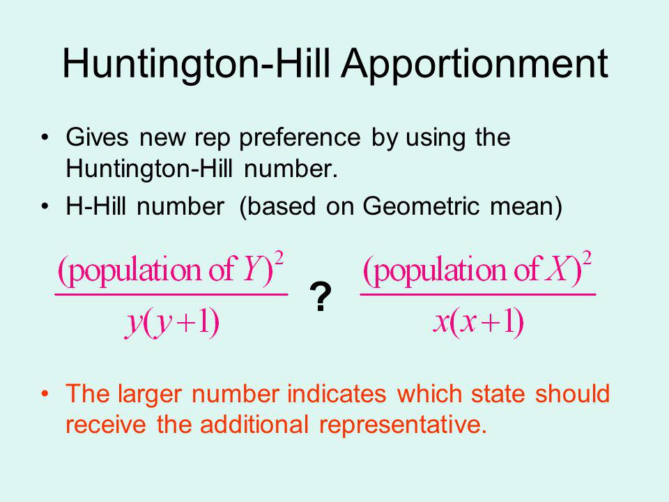 Huntington-Hill Apportionment