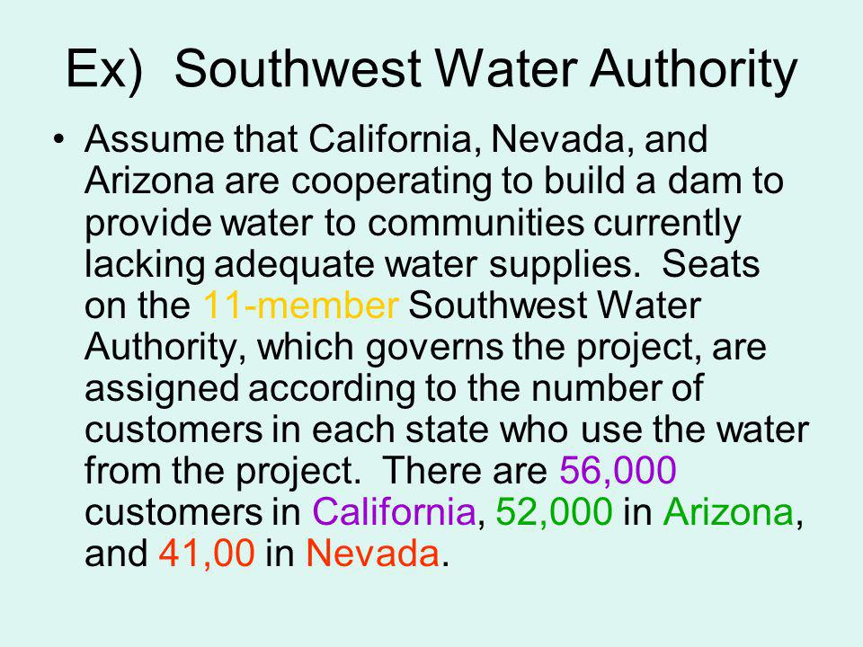 Ex) Southwest Water Authority