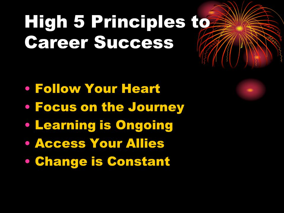 High 5 Principles to Career Success