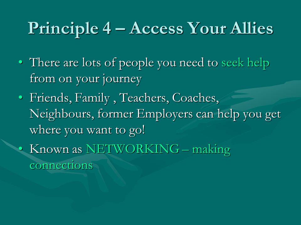 Principle 4 – Access Your Allies