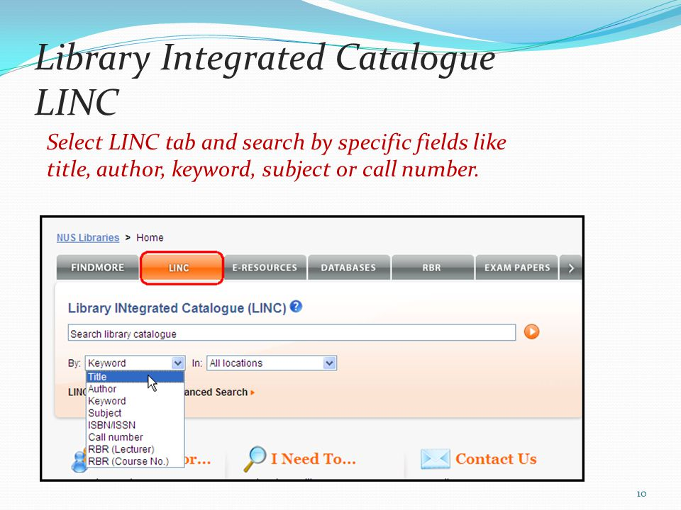 Library Integrated Catalogue LINC