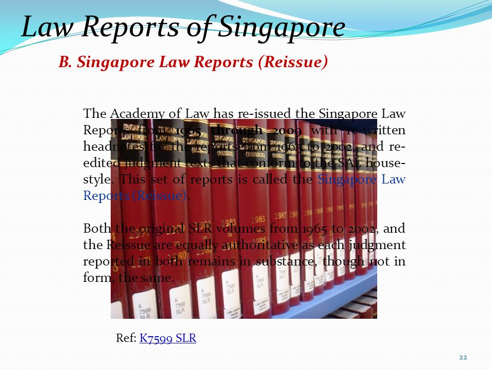 Law Reports of Singapore