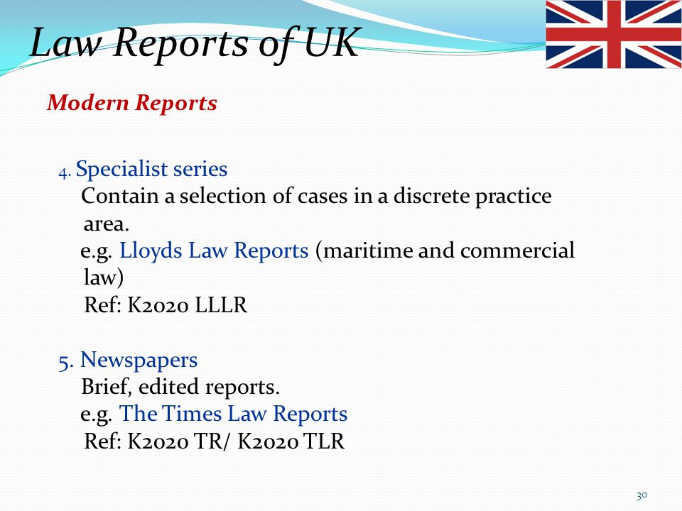 Law Reports of UK Modern Reports