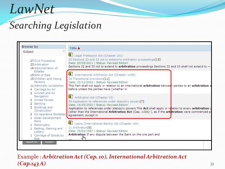 LawNet Searching Legislation