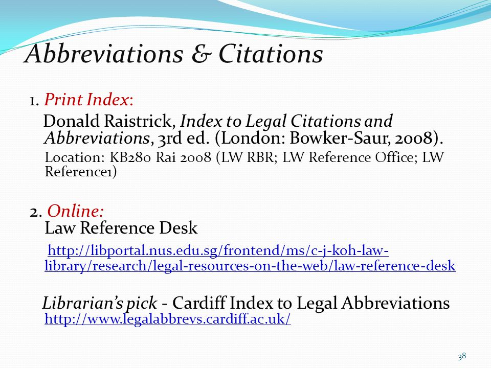 Abbreviations & Citations