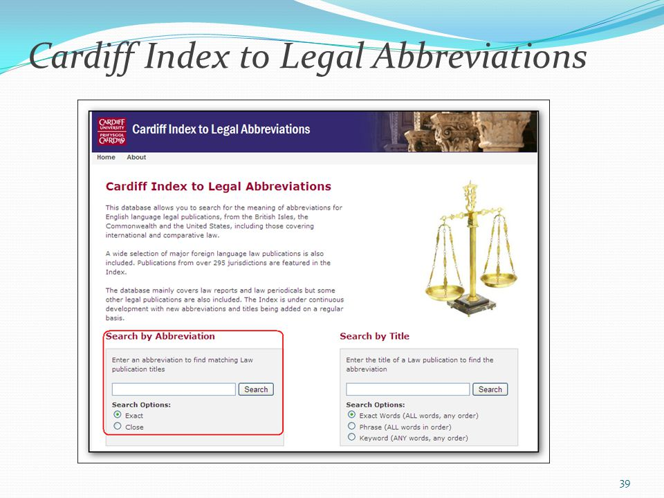 Cardiff Index to Legal Abbreviations