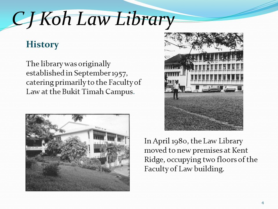 C J Koh Law Library History