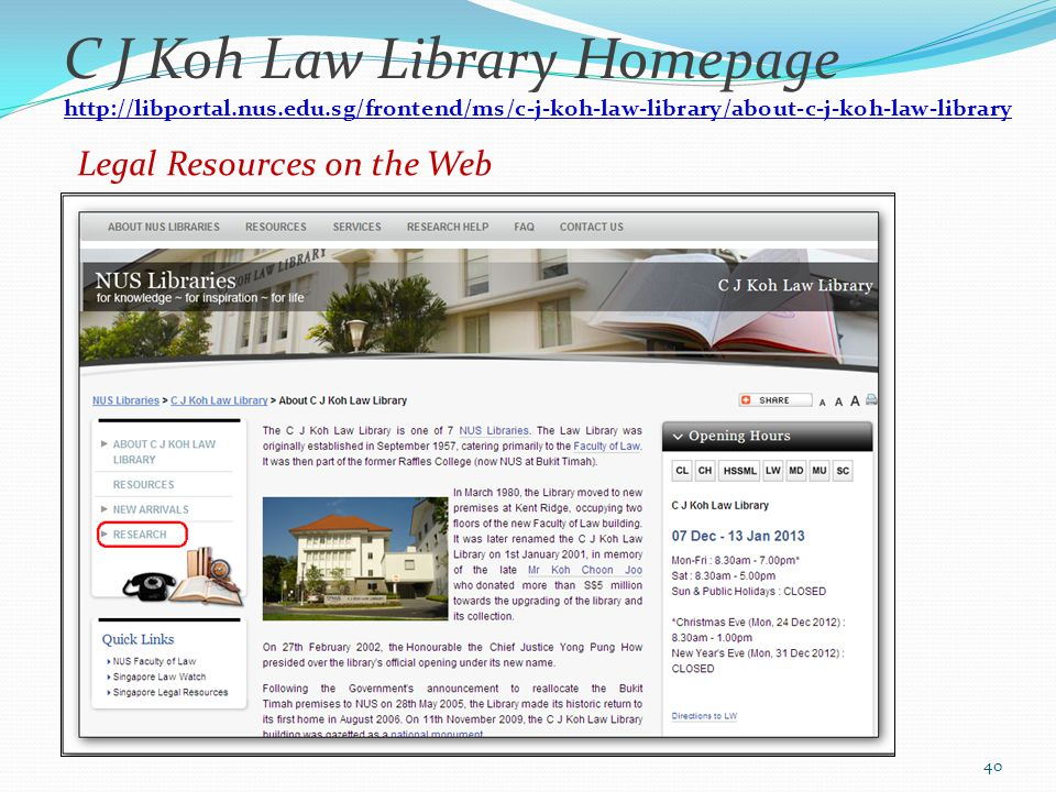 Legal Resources on the Web