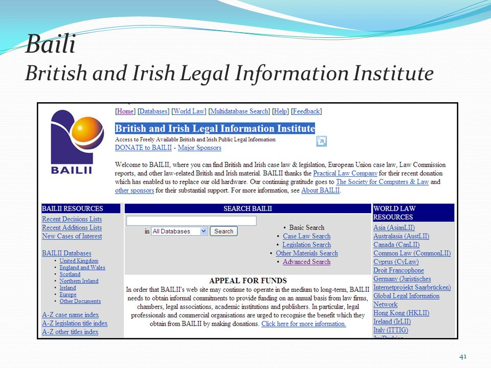 Baili British and Irish Legal Information Institute