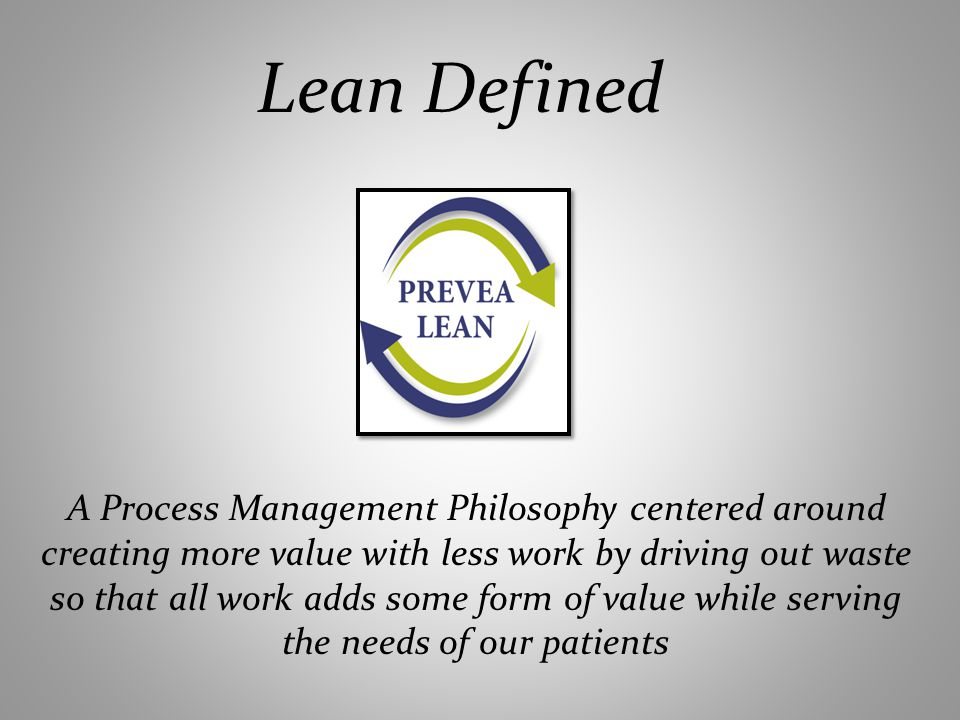 Lean Defined