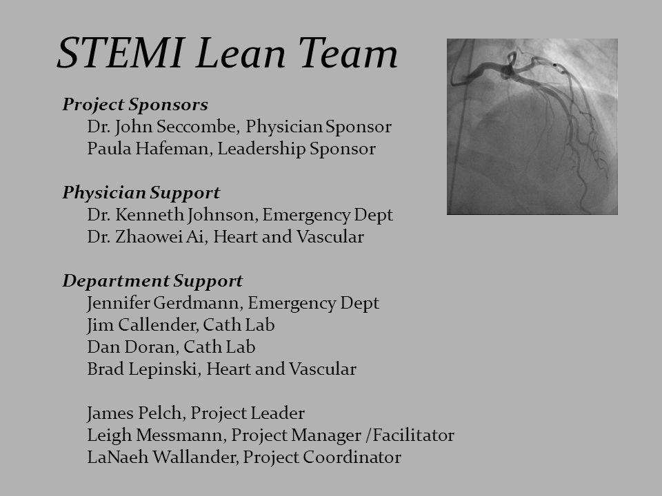 STEMI Lean Team Project Sponsors Dr. John Seccombe, Physician Sponsor