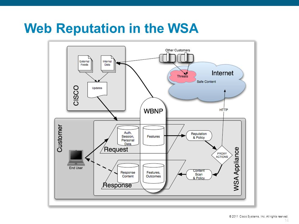 Web Reputation in the WSA