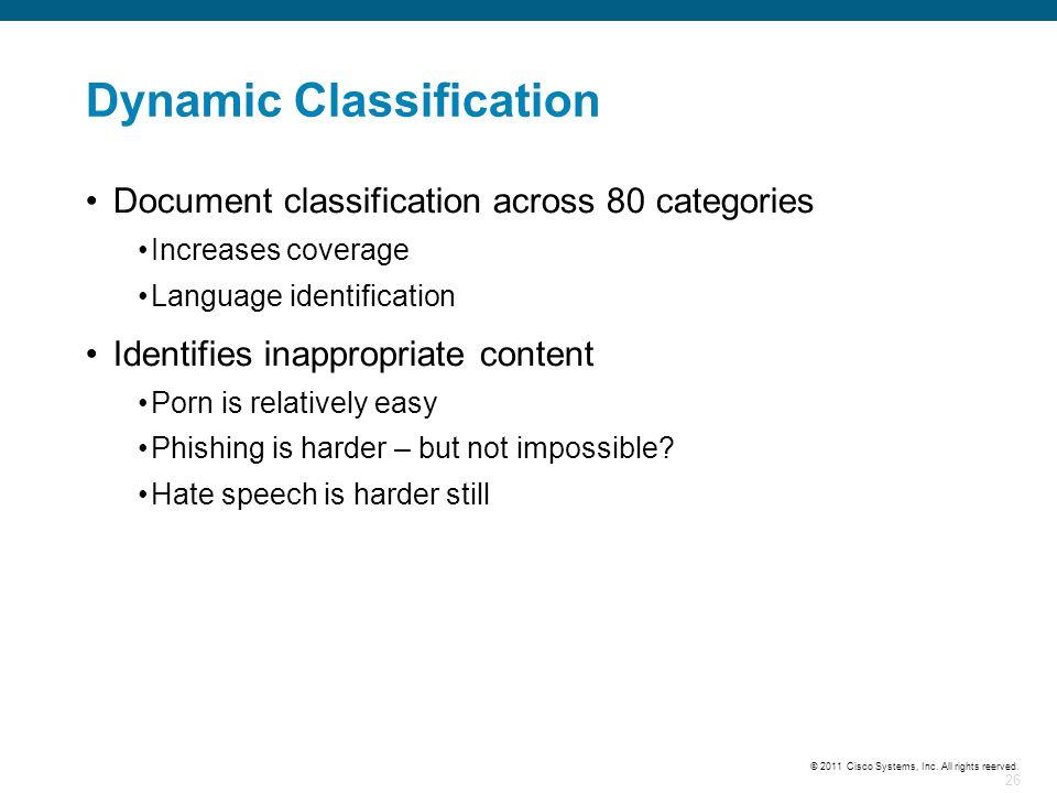 Dynamic Classification