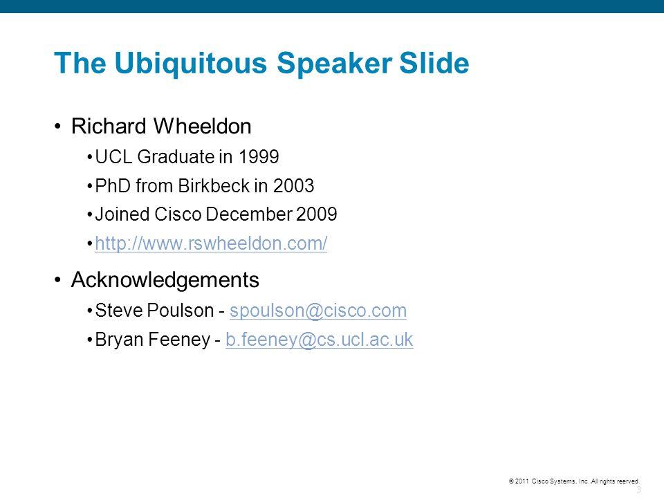 The Ubiquitous Speaker Slide