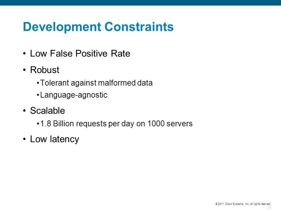 Development Constraints