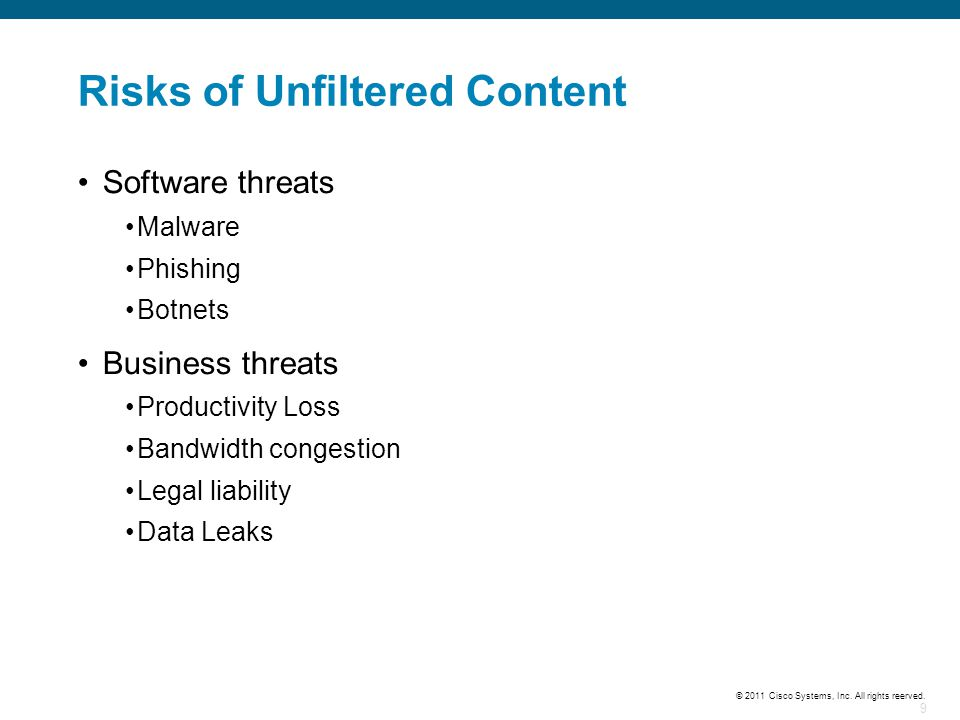 Risks of Unfiltered Content