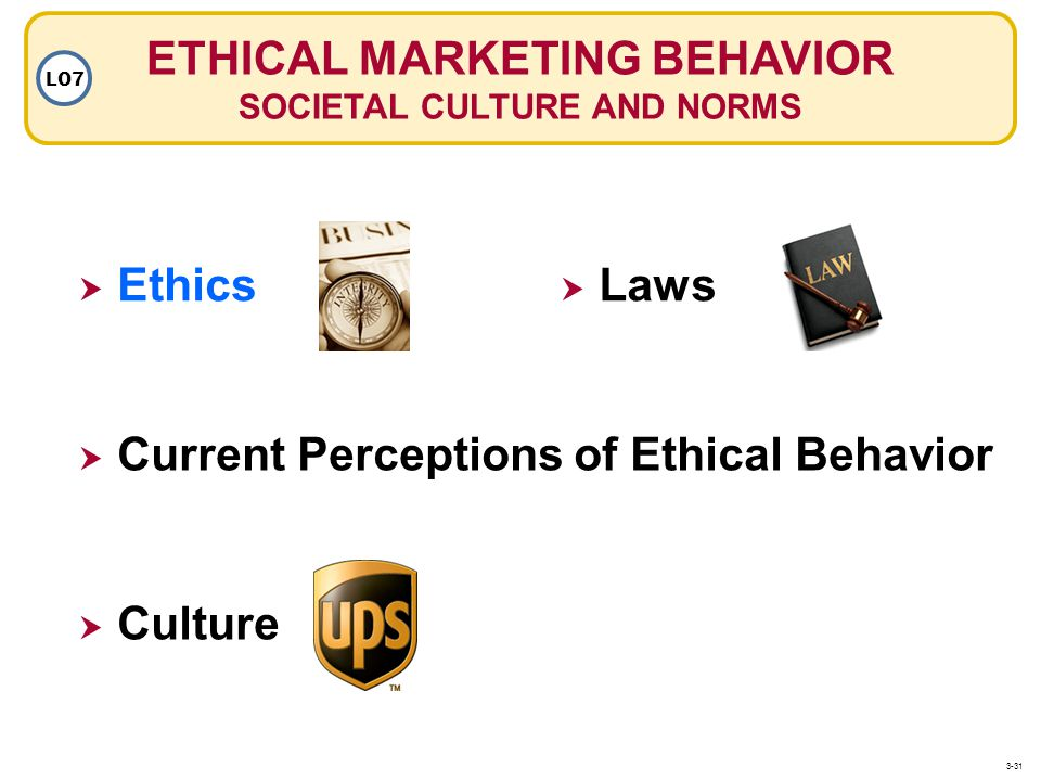 ETHICAL MARKETING BEHAVIOR SOCIETAL CULTURE AND NORMS