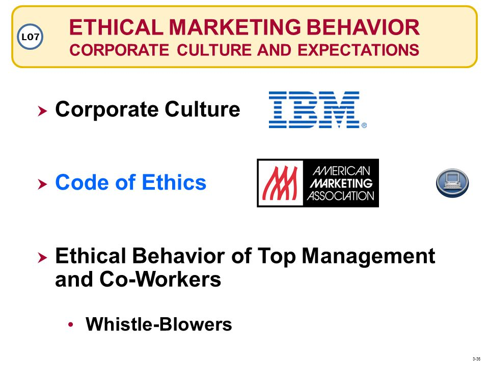 ETHICAL MARKETING BEHAVIOR CORPORATE CULTURE AND EXPECTATIONS