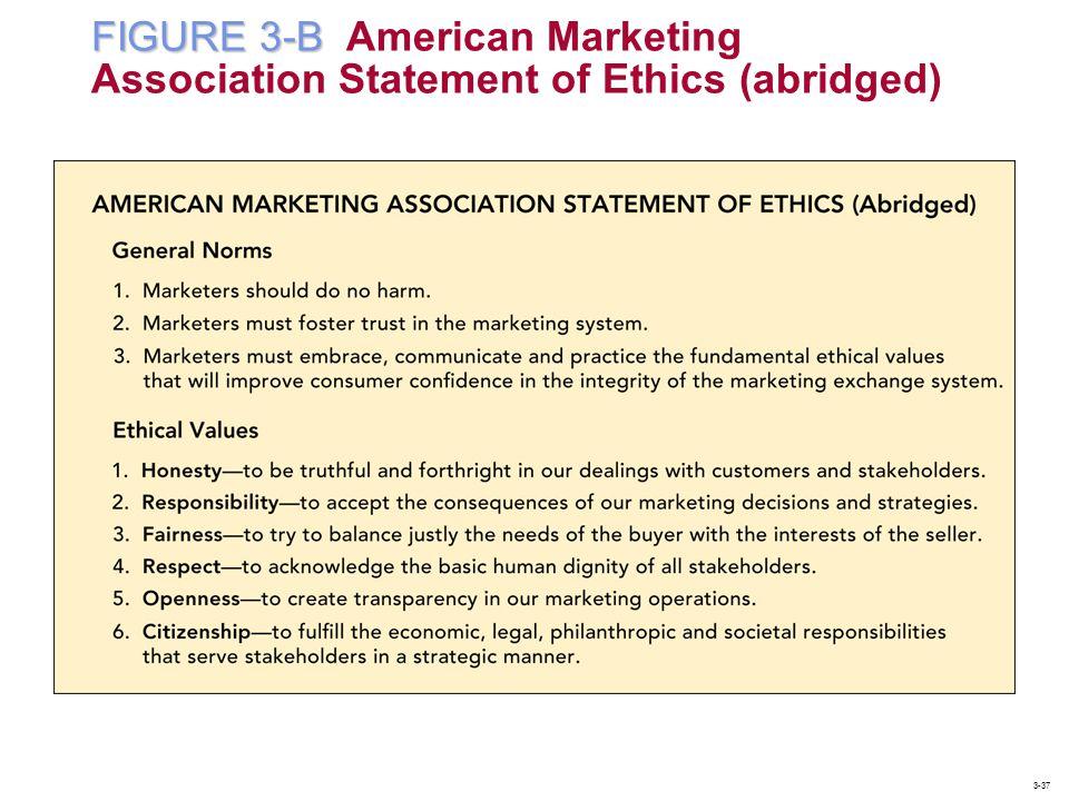 FIGURE 3-B American Marketing Association Statement of Ethics (abridged)