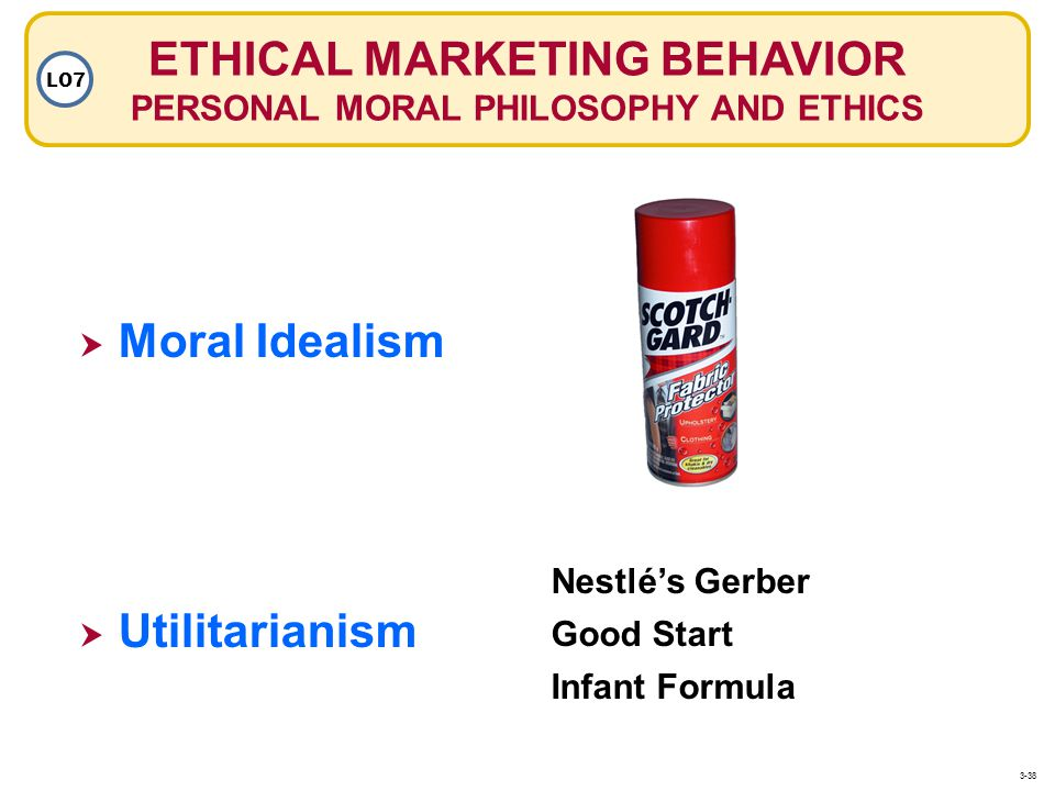 ETHICAL MARKETING BEHAVIOR PERSONAL MORAL PHILOSOPHY AND ETHICS