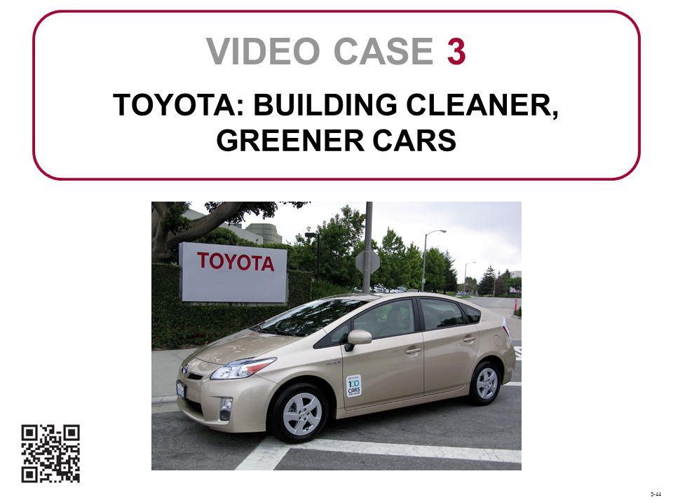 TOYOTA: BUILDING CLEANER, GREENER CARS