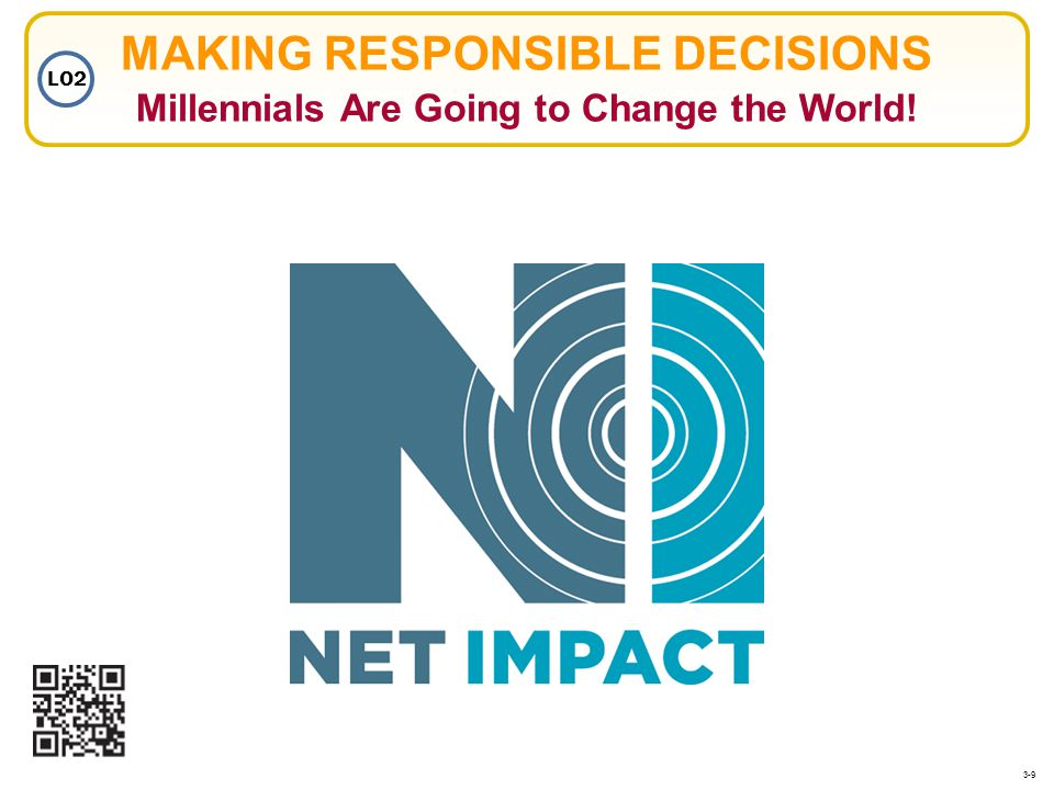 MAKING RESPONSIBLE DECISIONS Millennials Are Going to Change the World!